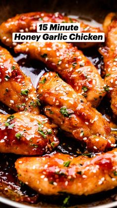 Instapot Recipes Chicken, Chicken Tender Recipes, Chicken Wing Recipes, Easy Honey Garlic Chicken, Honey Garlic Wings, Amazing Chicken Recipes, Recipes With Chicken Tenders, Chicken Tenders Healthy, Honey Chicken Wings