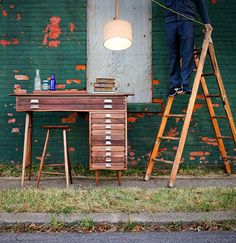 Love this desk by Keating Woodworks
