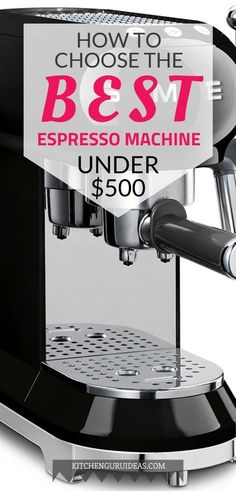 Don't scour the entire city for that perfect cup of espresso. Save both time and money with one of these best espresso machines under 500 bucks! Best Home Espresso Machine, Espresso Machine Reviews, Automatic Espresso Machine, Cappuccino Machine, Coffee Machine Brands, Espresso Love, Must Have Kitchen Gadgets, Homemade Smoker, Food Truck Design