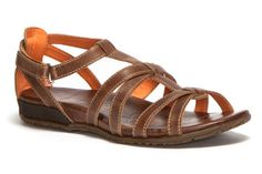 Comfortable, attractive sandals with an arch support that can be walked in with comfort!