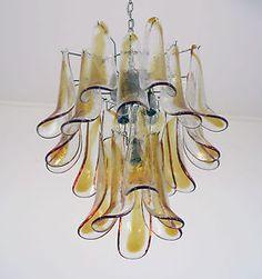 lampadario mazzega per venini : ... italiano Murano Vintage Lampadario Lampada-MAZZEGA o la murrina eBay