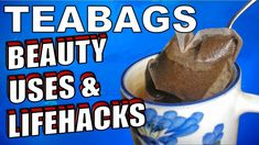 24 Tea Bag Life Hacks, Health benefits & Ingenious Uses You Will Want To Try If you drink tea regularly, you probably go through a lot of tea bags! Health And Beauty Tips, Health Tips, Health Care, Natural Health Remedies, Natural Cures, Used Tea Bags, Brewing Tea, Homemade Skin Care