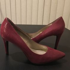 """JUST ARRIVED! Bandolino Cranberry Heels! These are new arrivals! Very stylish and comes in a beautiful cranberry color! Brand new! Heel height is 3.5"""".  Next day shipping so you will be able to wear your shoes in no time! Bandolino Shoes Heels"""