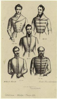 [Men showing upper parts of dress, France, 1834.] Men -- Clothing & dress -- France -- 1830-1839