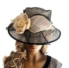 Black Sinamay Hat