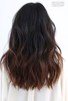 Coiffure cheveux longs : F L U I D Cut/Style: Anh Co Tran IG: Co Tran Appointment inquiries Hair Color For Black Hair, Dark Hair, Hairstyles Haircuts, Pretty Hairstyles, Hairstyle Ideas, Ombre Hair, Balayage Hair, Medium Hair Styles, Short Hair Styles