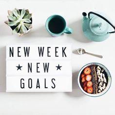 New week- new goals. #mycinemalightbox #Regram #homedecor #lightbox #cinemalightbox #quotes