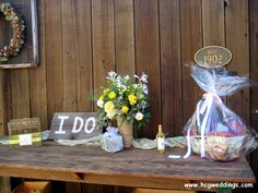 Rustic hand-painted signs ~ perfect