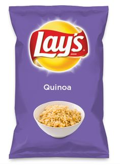 Wouldn't Quinoa be yummy as a chip? Lay's Do Us A Flavor is back, and the search is on for the yummiest chip idea. Create one using your favorite flavors from around the country and you could win $1 million! https://www.dousaflavor.com See Rules.