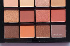 nyx warm neutrals ultimate shadow palette close up 2