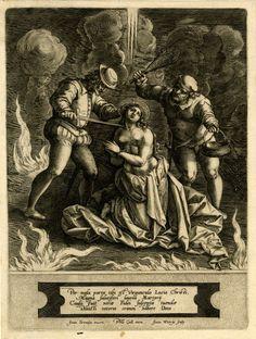 The martyrdom of St Lucia After Jan van der Straet