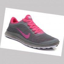 Calzado deportivo Para Nike Free Flyknit 3.0 v6 Mujer Gris Rosa xUTiS
