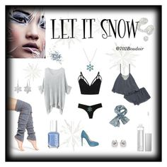 """Let It Snow"" by boudoir702 on Polyvore featuring Lemon, Amanda Rose Collection, Commando, Illamasqua, Essie, Fendi, Flora Nikrooz, Topshop, photography and boudoir"