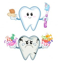 When you are teaching kids about all the important things in life one of the important things to teach them is good dental care. Health Activities, Preschool Learning Activities, Preschool Activities, Preschool Projects, Dentist Art, Tooth Cartoon, Body Preschool, Dental Posters, Dental Health Month