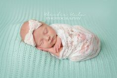 Everyday soft lace and pink satin baby headband with a pearl button