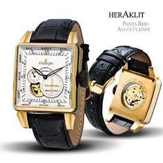 Kronsegler Heraklit Automatic golden - white: Amazon.co.uk: Watches