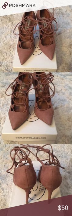 Steve Madden     Keenton Pink Nubuck Heels Great Condition worn once for a few hours Steve Madden Shoes Heels