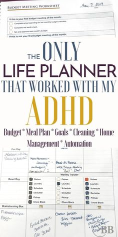 The Only Specific Life Planner for Hot Mess Moms. This is the best daily life planner for busy moms. I have ADHD and this is the only planner - The Plan, How To Plan, Plan For Life, Plan Plan, To Do Planner, Life Planner, Best Mom Planner, Best Planners For Moms, School Planner