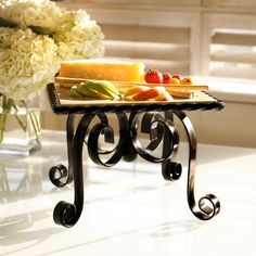 Marble Serving Stand.