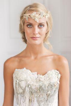 like an ancient Greek goddess #golden laurel #wreath #headpiece