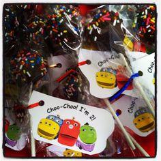 Chuggington Cake Pops! Amyscakepopshop.blogspot.com