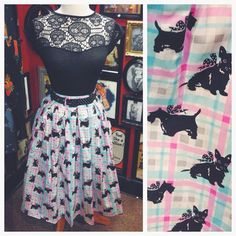 Develop your own pinup style with our selection of 50's styles with a alternative edge! #blamebetty #swingskirt #1950s