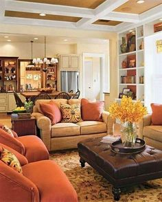 43 Cozy and warm color schemes for your living room | Warm color ...