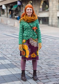 Maria - Hel Looks - Street Style from Helsinki - LOVE LOVE this look! Also love that she's the same age as me! :)