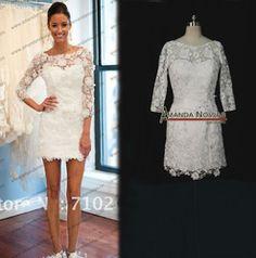2013 hot sale lace long sleeve short wedding dresses ns58 buy lace long sleeve short