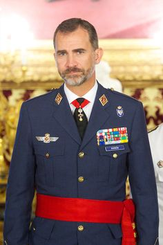King Felipe VI of Spain attends a Military Audiences at Palacio Real on 18.09.2014 in Madrid