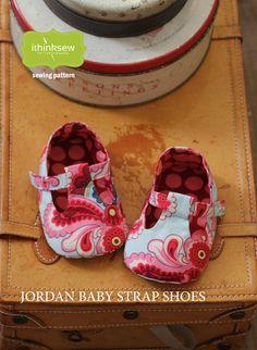 Jordan Baby T-Strap Shoes Paper Pattern