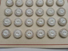 24 antiques buttons /original card/1930/glass by lesperlesdantan on Etsy