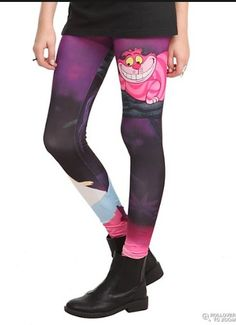 Alice in wonderland leggings! Ever since I saw these on someone ... WANT THEM!!!