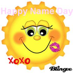 Happy Name Day Happy Name Day Wishes, Happy Birthday Wishes Cake, Happy Names, Funny Happy, Smiley, Messages, My Favorite Things, Words, Captions