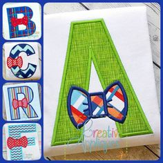 Bow-Tie-Alphabet-applique