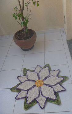 Receita Tapete Flor Estrela