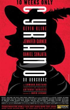 Cyrano on Behance Daniel Sunjata, Kevin Kline, Anthony Burgess, Jennifer Garner, Theatre Posters, Broadway, Behance, Jennifer Garner Feet
