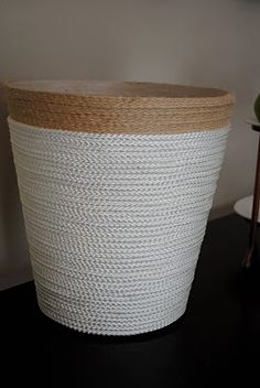 Nautical Rope Trash Can Tutorial