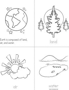 Land, Air, and Water Mini Book Water Crafts Preschool, Preschool Centers, Preschool Printables, Preschool Science, Preschool Lessons, Science Centers, Kid Science, Geography Worksheets, Geography Lessons