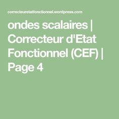 ondes scalaires | Correcteur d'Etat Fonctionnel (CEF) | Page 4