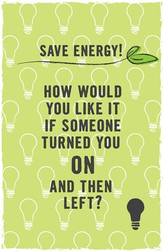 A Save Energy poster I made.