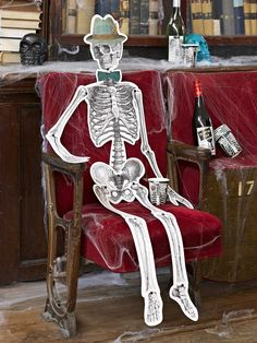 Halloween decorations  bag of bones  mr and mrs by evescrafts