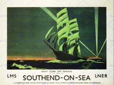 TRAVEL SOUTHEND SEA BOAT SHIP SAIL LNER RAIL UK VINTAGE ADVERT POSTER ART 2510PY   eBay