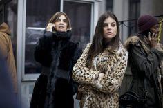 Street Style New York Fashion Week Fall 2013 Carine Roitfeld Julia Restoin Roitfeld