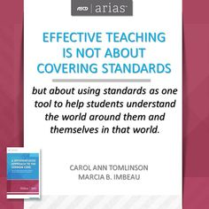 ASCD authors Carol Ann Tomlinson and Marcia B. Imbeau offer advice on how to plan, deliver, and assess instruction that meets Common Core State Standards in their ASCD Arias book, A Differentiated Approach to the Common Core.
