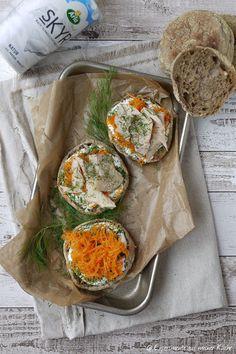 Experimente aus meiner Küche: Vollkorn-Toasties mit Meerrettich-Skyr und…