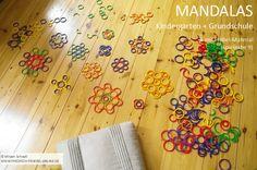 Tutorial - mit Kindern große und kleine Mandalas auf dem Boden legen mit dem Geo-Legematerial  des Pädagogen Friedrich Fröbel