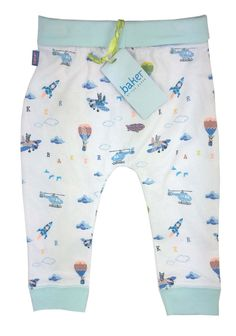 ef76f20c0 Ted Baker Baby Boys Trousers Jersey Bottoms Aiplanes Designer 12-18 Months