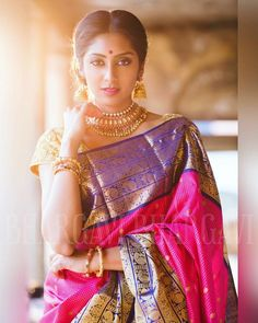 Bored of conventional style? Make a statement this time with a traditional Kanjeevaram like nothing before.. A select range of limited edition kanjeevaram sarees and duppattas now available at our studio! Beautiful sunkissed @krithikababu in a pink checkered Kanjeevaram saree with a heavy border Photographed by @lenskumar Hair Makeup by @edwardmakeupartist @siromakeupstudio Jewelry by @vasundharajewellery . 20 July 2016