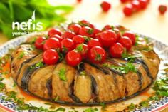 Eggplant with Tomato.- Eggplant with Tomato. Yummy Appetizers, Appetizer Recipes, Turkish Sweets, Shellfish Recipes, Eggplant Recipes, Fresh Fruits And Vegetables, Fish And Seafood, Ratatouille, Best Beauty Tips